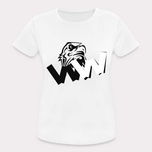 White and Black W with eagle - Women's Breathable T-Shirt