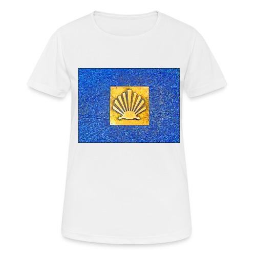 Scallop Shell Camino de Santiago - Women's Breathable T-Shirt