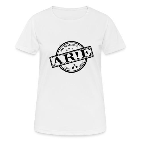 Backdrop AR E stempel zwart gif - Vrouwen T-shirt ademend actief
