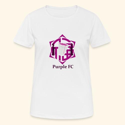 PURPLE FC - Camiseta mujer transpirable