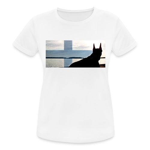 HUPPARITAUSTA2016 copy - naisten tekninen t-paita