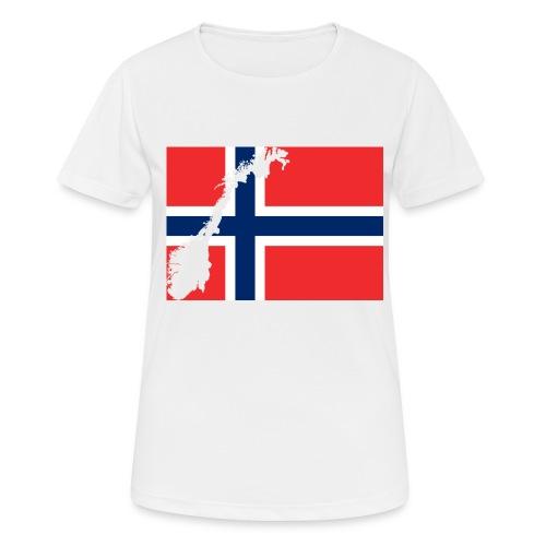 Norges Flagg - Frauen T-Shirt atmungsaktiv