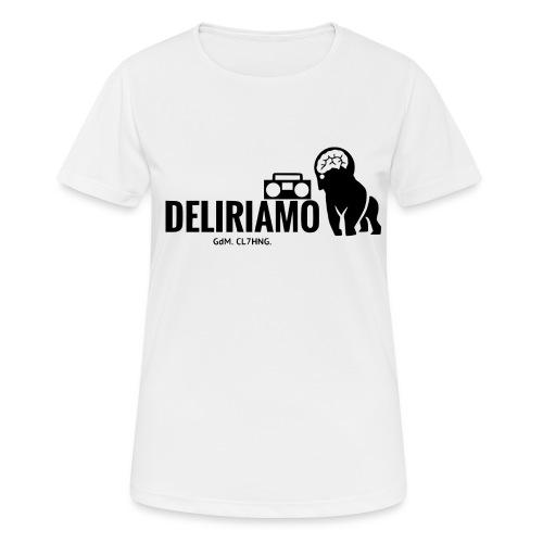 DELIRIAMO CLOTHING (GdM01) - Maglietta da donna traspirante
