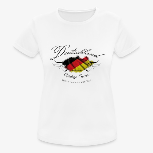 Vintage Deutschland - Frauen T-Shirt atmungsaktiv