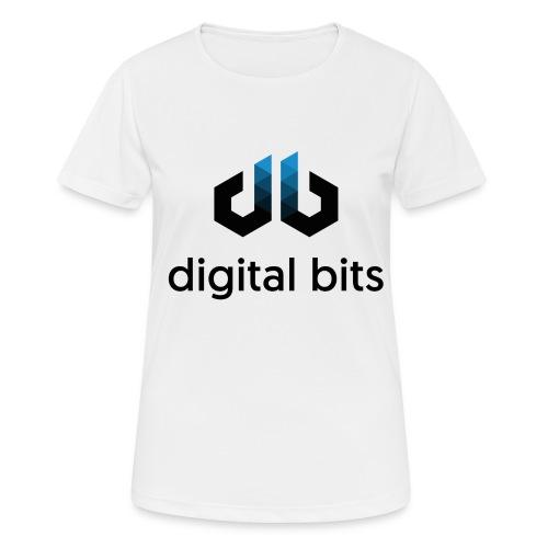 digitalbits Logo mit Schriftzug - Frauen T-Shirt atmungsaktiv