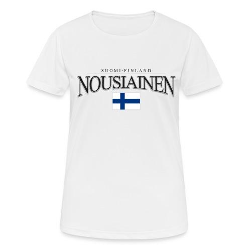 Suomipaita - Nousiainen Suomi Finland - naisten tekninen t-paita