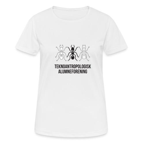 Teknoantropologisk Støtte T-shirt figur syet - Dame T-shirt svedtransporterende