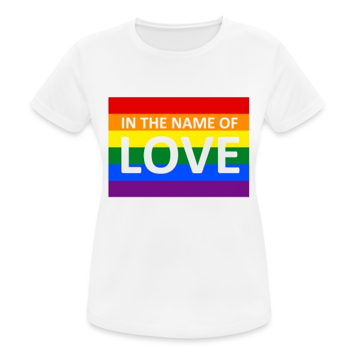IN THE NAME OF LOVE RETRO T-SHIRT - Dame T-shirt svedtransporterende
