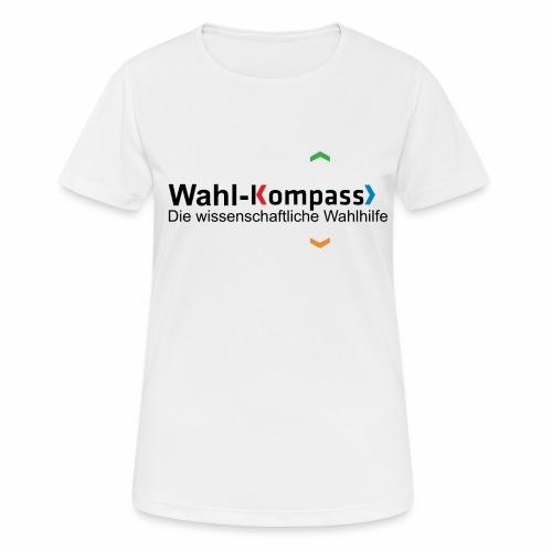 Wahl-Kompass Logo mit Slogan - Frauen T-Shirt atmungsaktiv