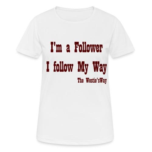I follow My Way Brown - Koszulka damska oddychająca