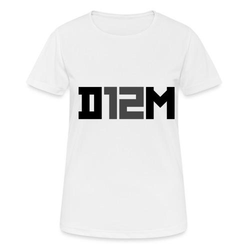 D12M: SHORT BLACK - Vrouwen T-shirt ademend actief