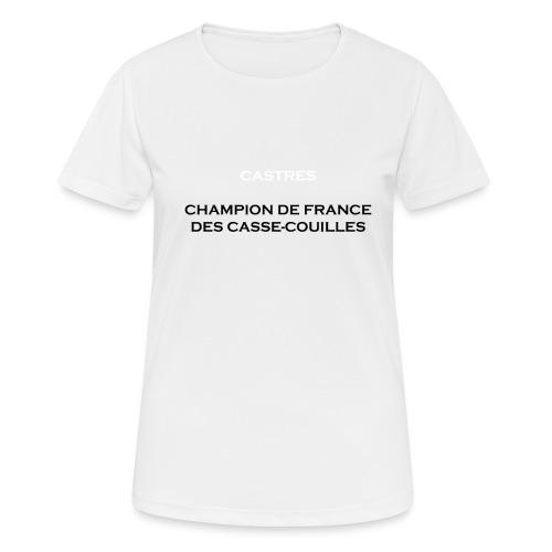 design castres - T-shirt respirant Femme