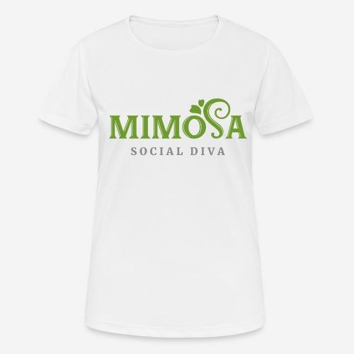 mimosa social diva - Frauen T-Shirt atmungsaktiv