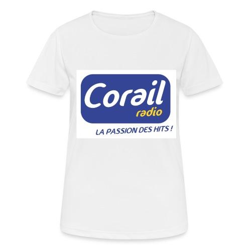 Logo bleu - T-shirt respirant Femme
