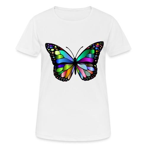 Kolorwy Motyl - Koszulka damska oddychająca