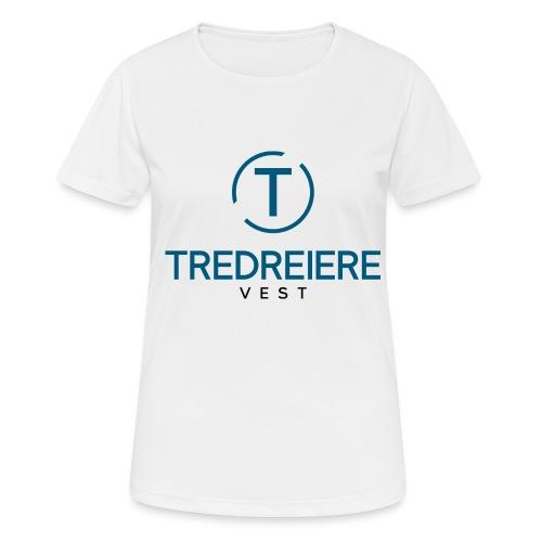 Farget logo - Pustende T-skjorte for kvinner