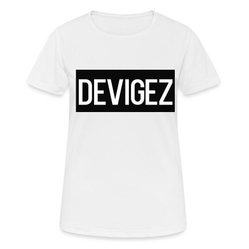 devigez black - Andningsaktiv T-shirt dam