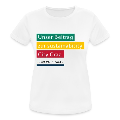 Energie Graz Vision - Frauen T-Shirt atmungsaktiv