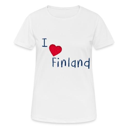 I Love Finland - naisten tekninen t-paita