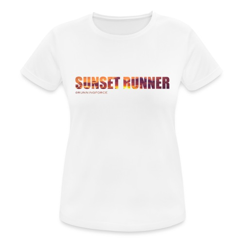Sunset Runner - @RUNNINGFORCE - Frauen T-Shirt atmungsaktiv