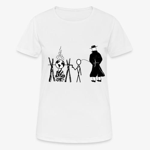 Pissing Man against human self-destruction - Frauen T-Shirt atmungsaktiv