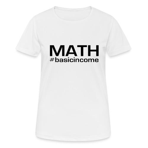 math-black - Vrouwen T-shirt ademend actief