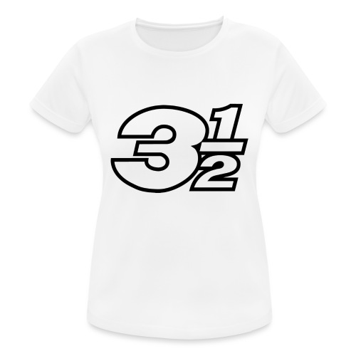 Three and a Half Logo - Women's Breathable T-Shirt