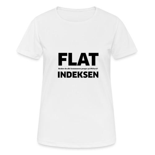 Jeg legger meg flat - Pustende T-skjorte for kvinner