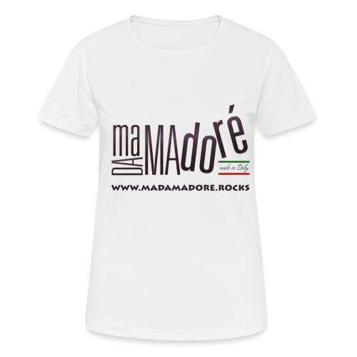 T-Shirt Premium - Donna - Logo Standard + Sito - Maglietta da donna traspirante