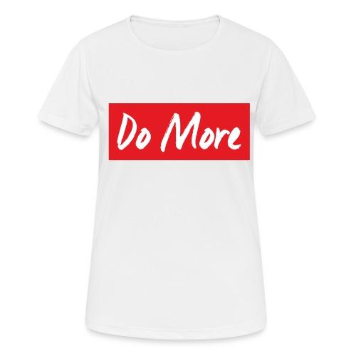 white logo color background - T-shirt respirant Femme
