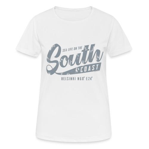 ETELÄRANNIKKO, SOUTH COAST HELSINKI COOL T-SHIRTS - naisten tekninen t-paita