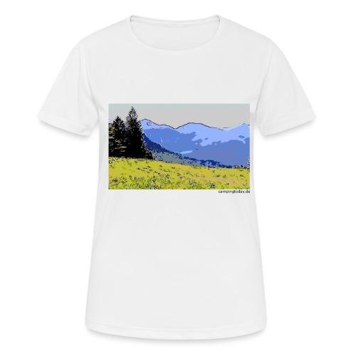 Berge künstlerisch - Frauen T-Shirt atmungsaktiv