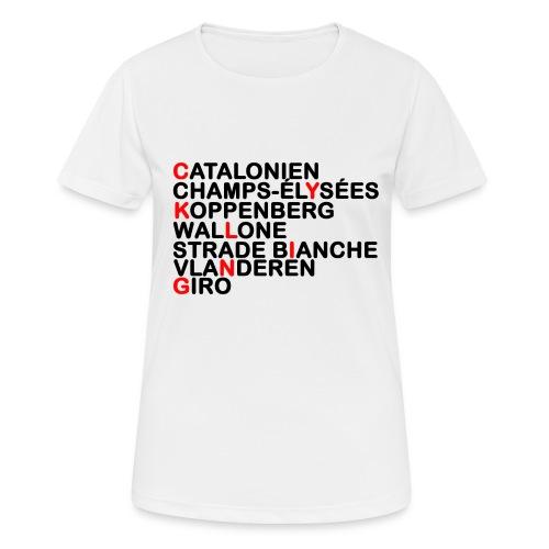 CYKLING - Dame T-shirt svedtransporterende