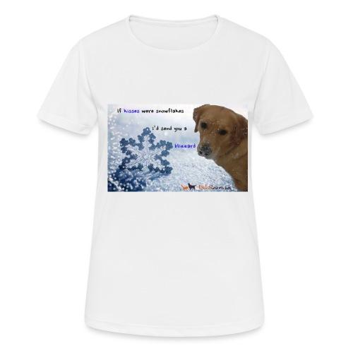 Golden Retriever tra i fiocchi di neve - Maglietta da donna traspirante