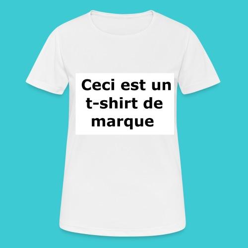 t-shirt2 - T-shirt respirant Femme