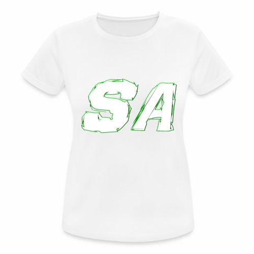 Vit SA Logo - Andningsaktiv T-shirt dam