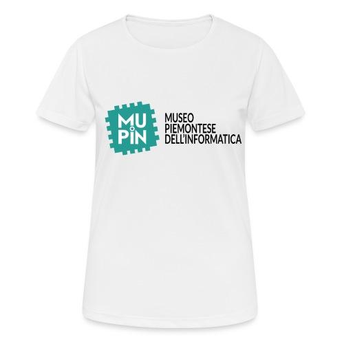Logo Mupin con scritta - Maglietta da donna traspirante