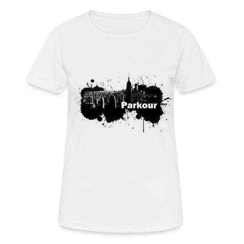 Parkour Splash New York - Dame T-shirt svedtransporterende
