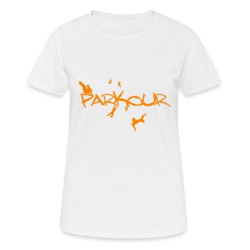 Parkour Orange - Dame T-shirt svedtransporterende
