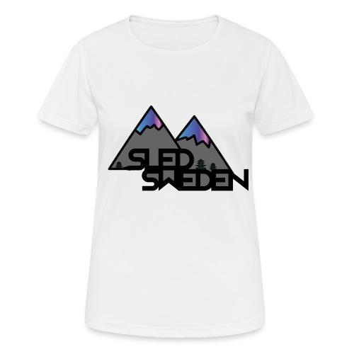 SledSweden Official Logo Special Edition - Andningsaktiv T-shirt dam