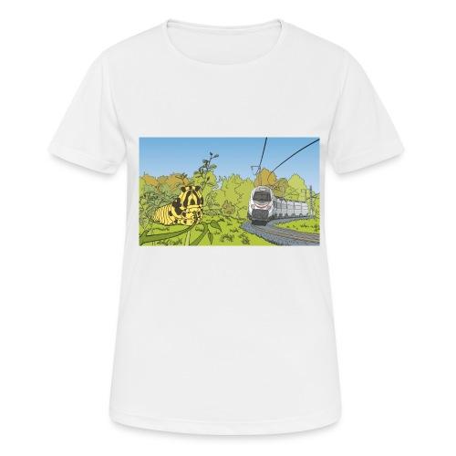 Raupe und Zug - Frauen T-Shirt atmungsaktiv
