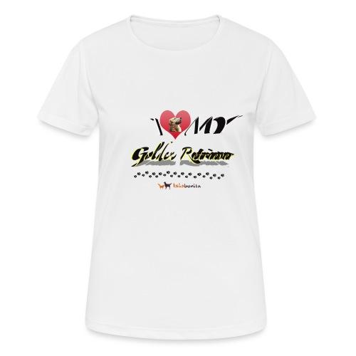 I Love my Golden Retriever - Maglietta da donna traspirante