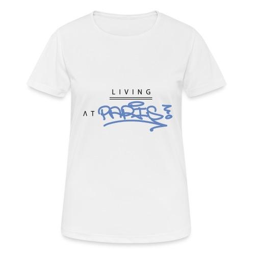 Living @ Paris street letters - T-shirt respirant Femme