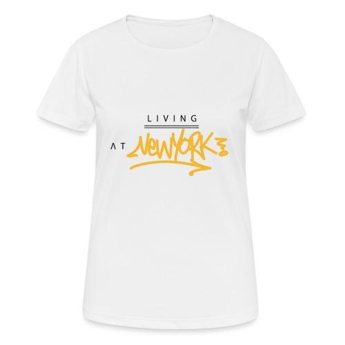 Living @ New-York Street Letters - T-shirt respirant Femme