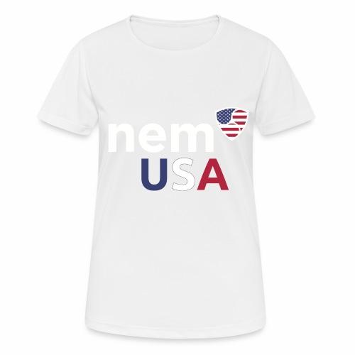 NEM USA white - Maglietta da donna traspirante