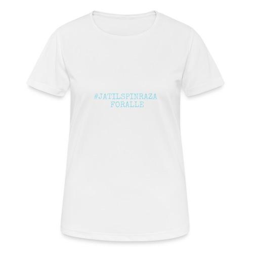#jatilspinrazaforalle - lysblå - Pustende T-skjorte for kvinner