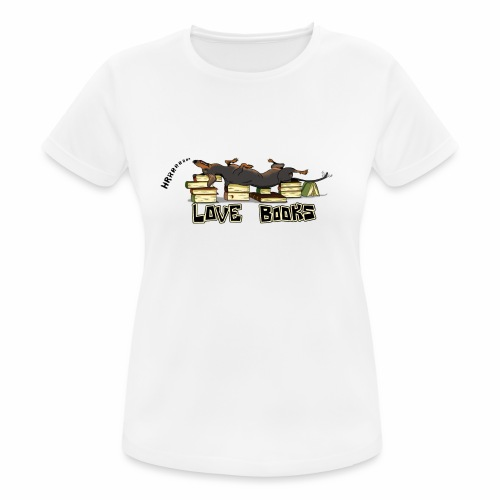 Love books - Koszulka damska oddychająca