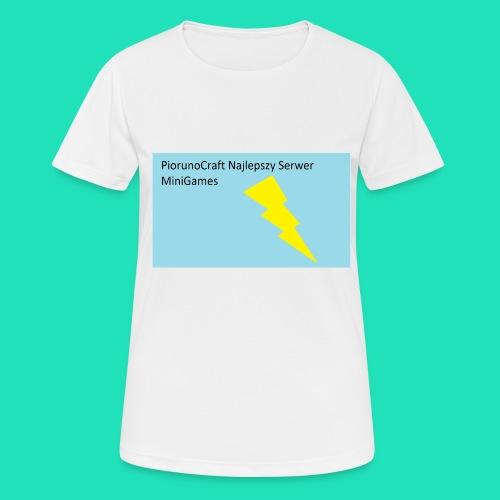 Koszulka Dla Dzieci PiorunoCraft - Koszulka damska oddychająca