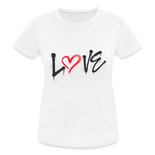 Love - Camiseta mujer transpirable