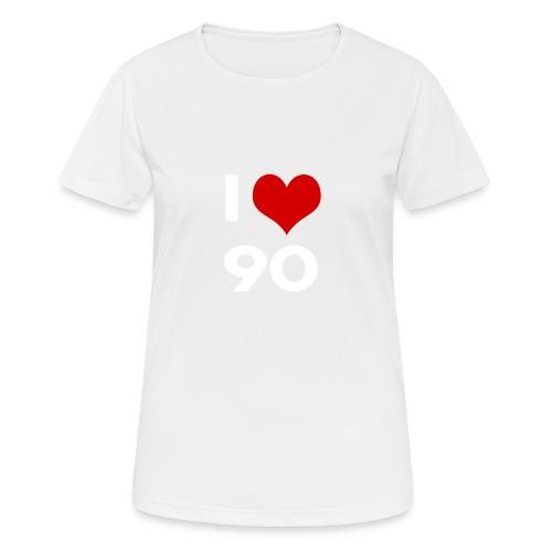 I love 90 - Maglietta da donna traspirante